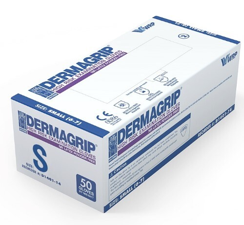Купить Перчатки смотровые dermagrip high risk неопудренные s n25 пар цена