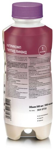 Купить Нутрикомп пептид ликвид 500мл /нейтральный вкус/ цена