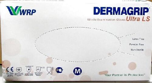 Купить Перчатки смотровые dermagrip ultra ls нестерильные неопудренные нитриловые m n100 пар цена