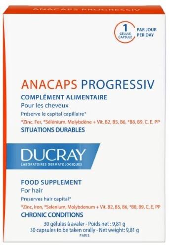 Купить DUCRAY ANACAPS PROGRESSIVE ДЛЯ ВОЛОС И НОГТЕЙ N30 цена
