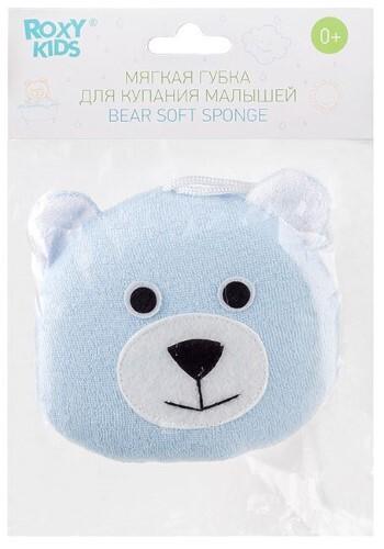 Мягкая губка с махровым покрытием bear 0+