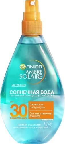 Ambre solaire солнечная вода солнцезащитный прозрачный спрей spf30 150мл