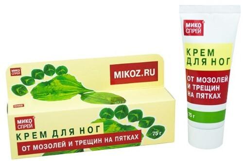 Купить Микоспрей крем для ног от мозолей и трещин на пятках 75,0 цена