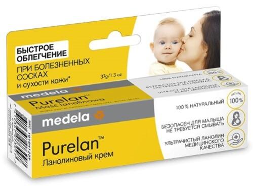 Купить Средство для гигиенического ухода за сосками кормящих матерей и косметического ухода за кожей purelan ланолиновый крем 37г цена
