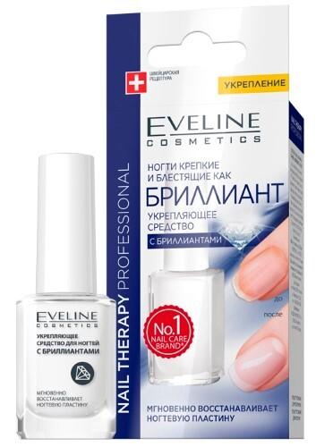 Купить Eveline nail therapy professional укрепляющее средство с бриллиантами 12мл цена