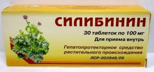 Купить СИЛИБИНИН 0,1 N30 ТАБЛ цена