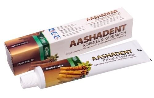 Купить Зубная паста корица и кардамон aashadent 100,0 цена