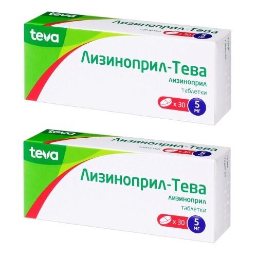 Купить Набор лизиноприл-тева 0,005 n30 табл - 2 упаковки по специальной цене цена
