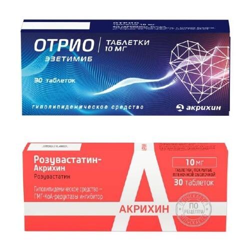 Купить Набор отрио 0,01 n30 табл + розувастатин-акрихин 0,01 n30 табл п/плен/оболоч закажи по специальной цене цена