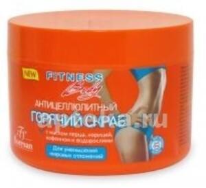 Купить Фитнес body скраб горячий для тела антицеллюлитный 500мл цена