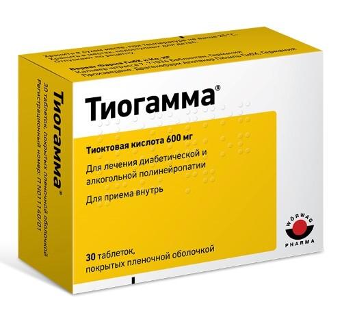 Купить Тиогамма 0,6 n30 табл п/плен/оболоч цена