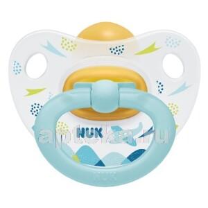 Купить Соска-пустышка ортодонтической формы из латекса happy kids 6-18м/с контейнером/самолетик цена