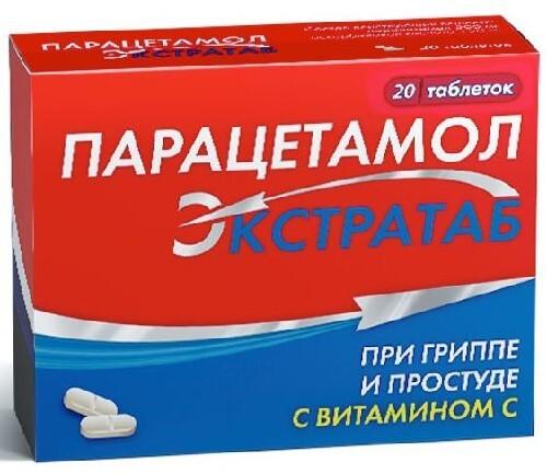Купить Парацетамол экстратаб 0,5+0,15 n20 табл цена