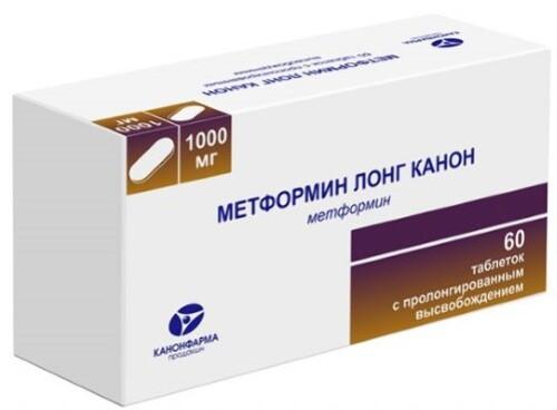 Купить Метформин лонг канон 1,0 n60 табл пролонг высвоб цена