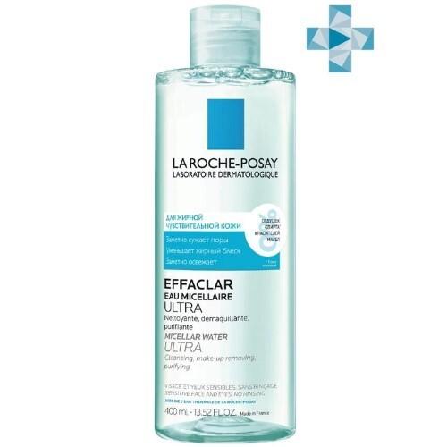 Купить La roche-posay effaclar мицеллярная вода ultra очищение для жирной проблемной кожи 400мл цена