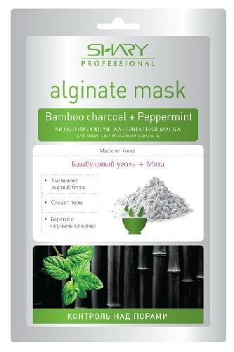 Купить Профессиональная альгинатная маска контроль над порами бамбуковый уголь + мята 28,0 цена