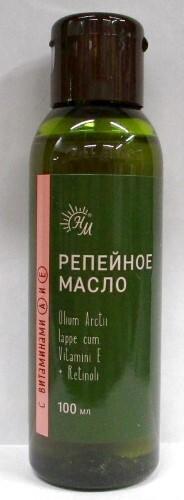 Купить Репейное масло с витаминами а и е 100мл цена