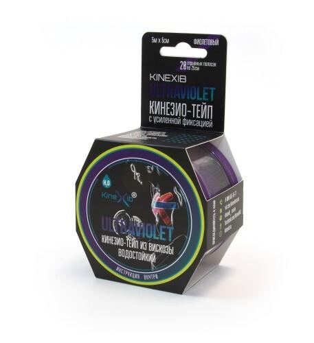 Купить Бинт нестерильный адгезивный восстанавливающий kinexibultraviolet фиолетовый 5смx5м /кинезио тейп/ цена