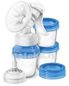 Купить Avent молокоотсос ручной+универсал контейнер comfort natural scf330/13 цена