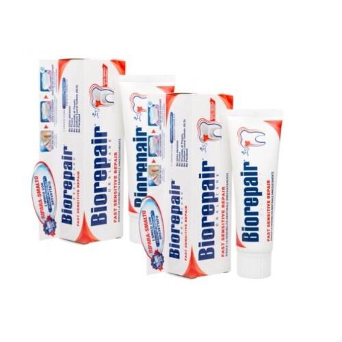 Купить Набор biorepair зубная паста быстрое восстановление д/чувств зубов 75мл из 2-х уп по специальной цене цена