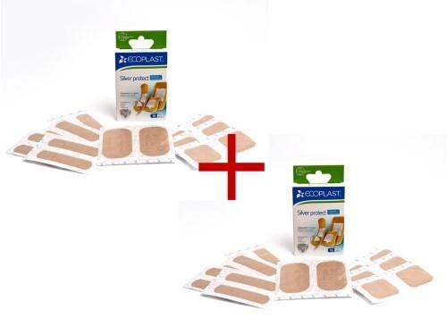Купить Набор ecoplast набор пластырей мед ткан silver protect n16 2уп по цене 1! цена