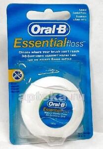 Зубная нить essential floss вощеная мятный вкус 50м