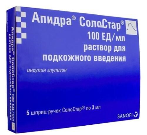 Купить АПИДРА СОЛОСТАР 100ЕД/МЛ 3МЛ N5 ШПРИЦ-РУЧКА СОЛОСТАР Р-Р П/К цена