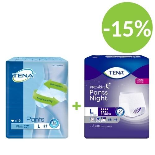 Купить Pants night super набор тена подгузники-трусы день pants plus n10 и ночь  super n10 (размер l) по специальной цене цена