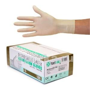 Купить Перчатки диагностические sf gloves латексные нестерильные неопудренные n50 пар s цена