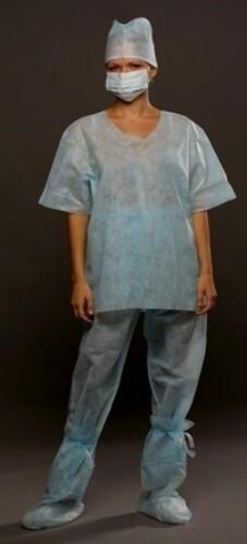 Купить Костюм хирургический (рубашка и брюки) стерильный размер 52-54/синий цена