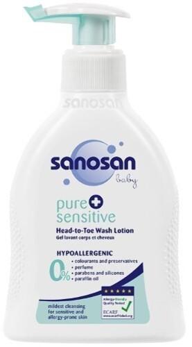 Купить Baby pure+sensitiv детское средство для купания 2в1 200мл цена