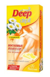 Купить Deep depil восковые полоски для депиляции чувствительной кожи с ромашкой n20 цена