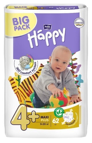 Купить Набор bella baby happy подгузники гигиенич для детей размер 4+/maxi plus 9-20кг n62 из 2-х уп по специальной цене цена