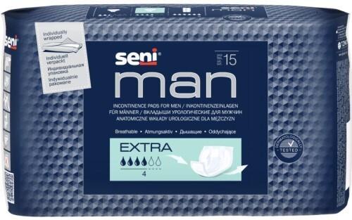 Купить SENI MAN EXTRA УРОЛОГИЧЕСКИЕ ПРОКЛАДКИ/ВКЛАДЫШИ ДЛЯ МУЖЧИН N15 цена