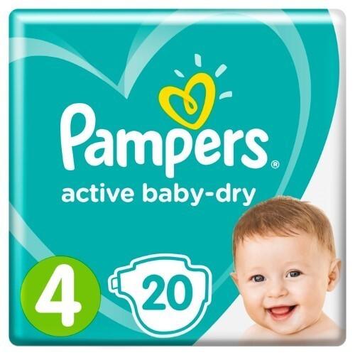 Купить PAMPERS ACTIVE BABY-DRY ПОДГУЗНИКИ РАЗМЕР 4 N20 цена