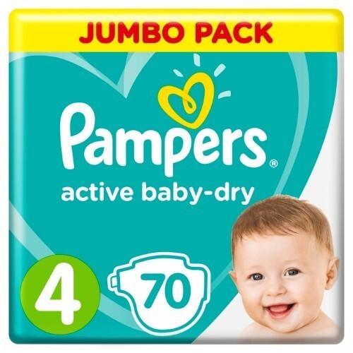 Купить PAMPERS ACTIVE BABY-DRY ПОДГУЗНИКИ РАЗМЕР 4 N70 цена