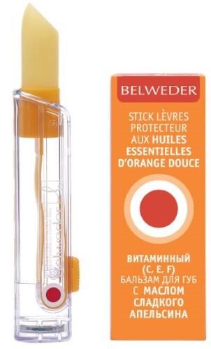 Купить Витаминный (e,c,f) бальзам для губ с маслом сладкого апельсина 4,0 цена