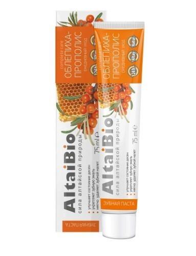 Купить Алтайбио зубная паста для ежедневного ухода за зубами и деснами облепиха прополис 75мл цена