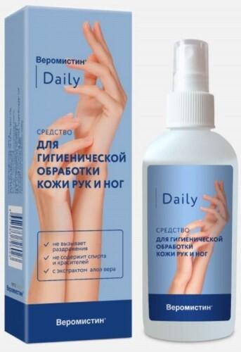 Купить Веромистин daily средство для гигиенической обработки кожи рук и ног 150мл цена