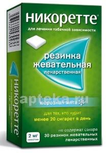 Купить Никоретте 0,002 n15x2 жев резинка/морозная мята/ цена