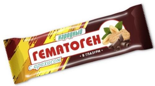 Купить Гематоген народный с арахисом в глазури цена