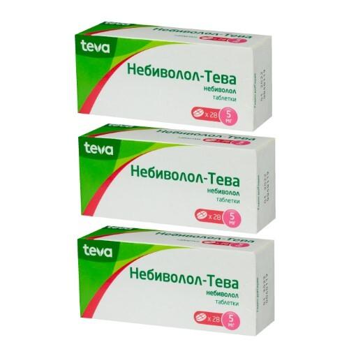 Набор НЕБИВОЛОЛ-ТЕВА 0,005 N28 ТАБЛ - 3  упаковки по специальной цене