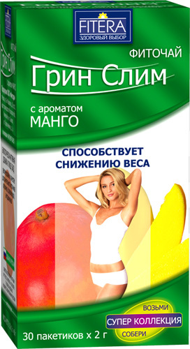 Купить ФИТОЧАЙ ГРИН-СЛИМ ТИ МАНГО 2,0 N30 ПАК цена