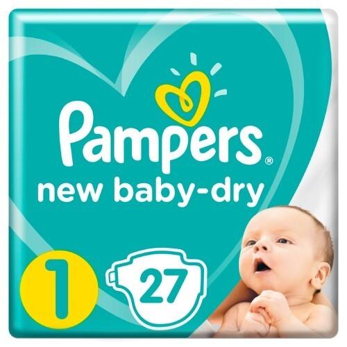 Купить PAMPERS NEW BABY-DRY ПОДГУЗНИКИ РАЗМЕР 1 N27 цена