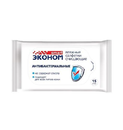Купить Влажные салфетки антибактериальные n15 цена