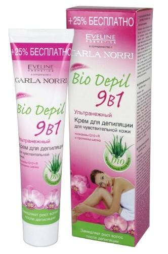 Купить Bio depil крем для депиляции ультранежный 9в1 для чувствительной кожи 125мл цена