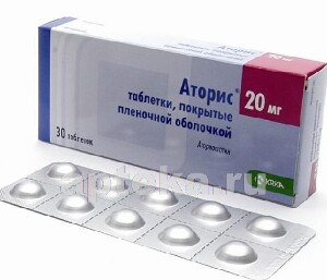 Купить Аторис 0,02 n30 табл п/плен/оболоч цена