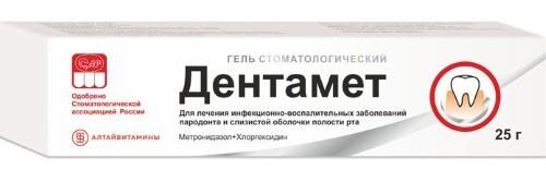 Купить Дентамет 25,0 гель цена