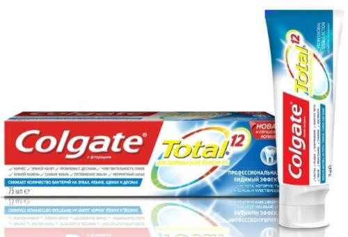 Купить Total 12 pro видимый эффект зубная паста 75мл цена