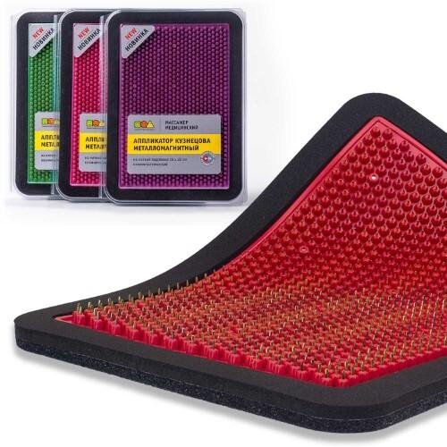 Купить Массажер медицинский аппликатор кузнецова металломагнитный на мягкой подложке полиметаллический 15х22см/красный цена